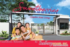 Sweetberries Community - Sunberry Homes - P595,000 - Balamba